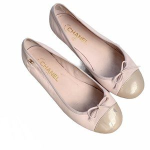Chanel Coco Jazz Lambskin Leather Ballerina Flats